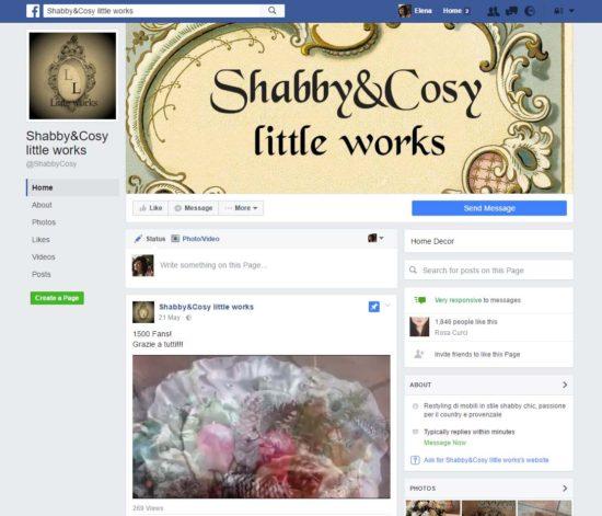 Check-up pagina Facebook: Shabby&Cosy