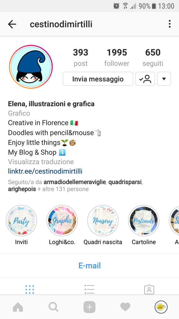 instagram contenuti in evidenza portfolio shop