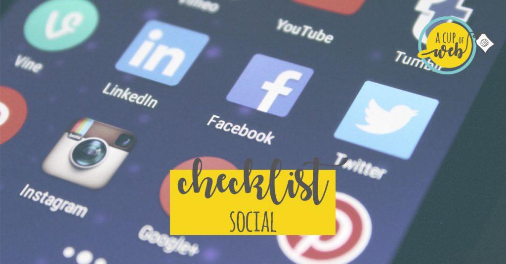 [checklist] Tutto quello che serve per promuoverti sui social