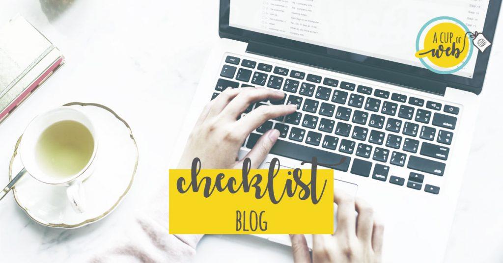 [checklist blog] Cosa devi fare per attirare clienti tramite il blog