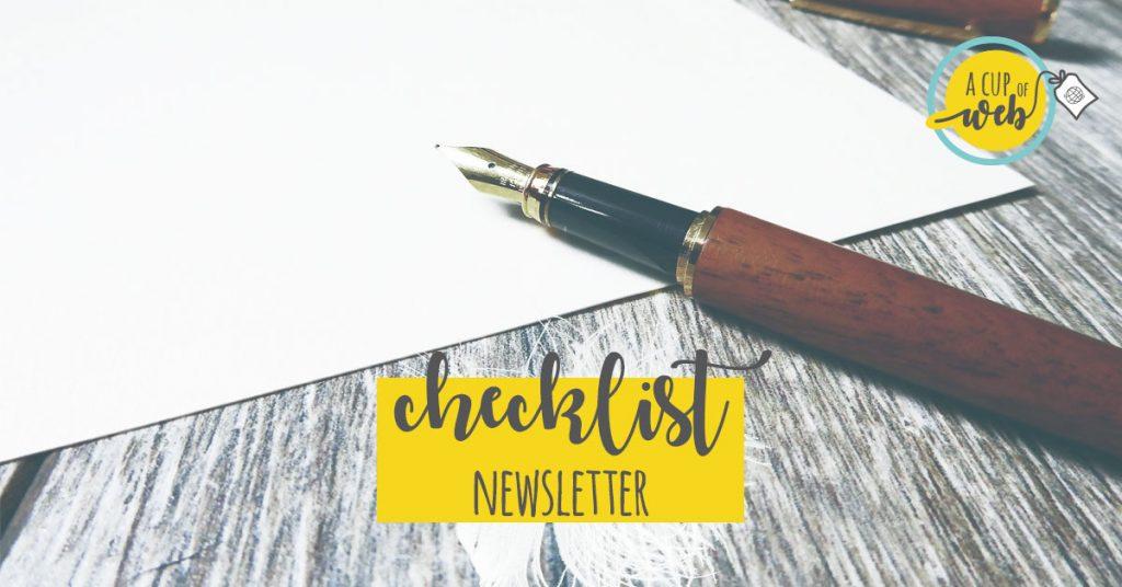 [checklist newsletter] Le cose da fare per usare al meglio la tua newsletter