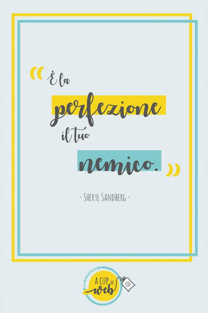 citazione imprenditrice perfezione