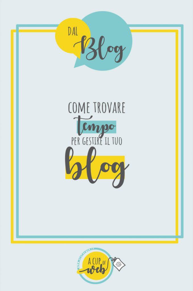 come gestire un blog in poco tempo