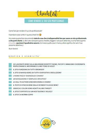checklist come creare sito web professionale