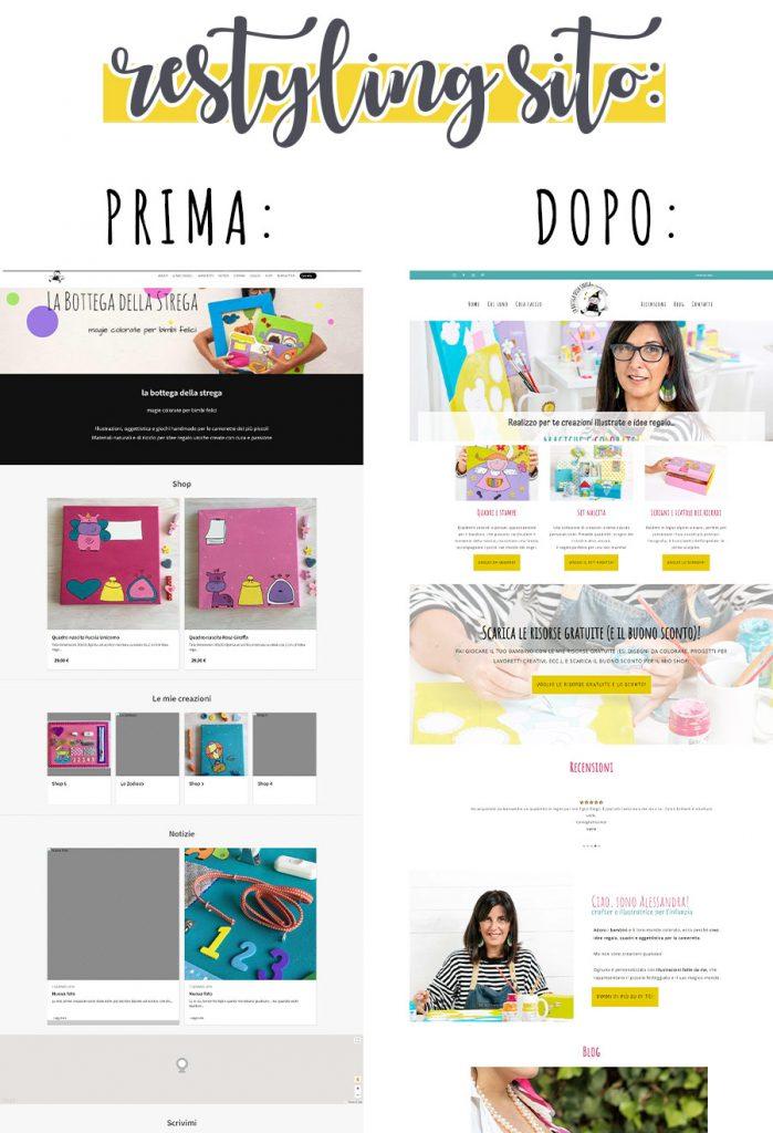 restyling sito web esempio