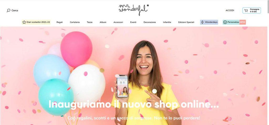 e-commerce esempio idee regalo