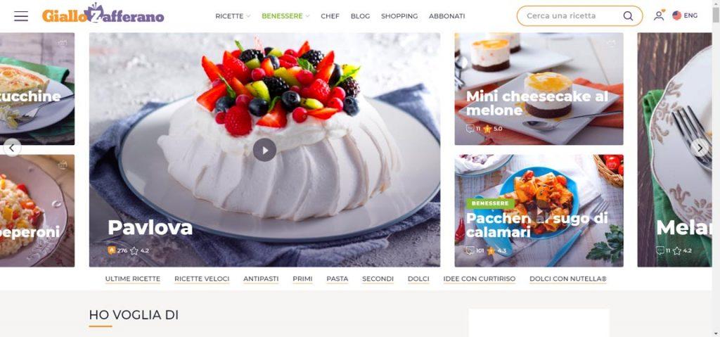 esempio blog di cucina
