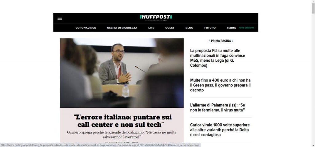 esempio blog giornale