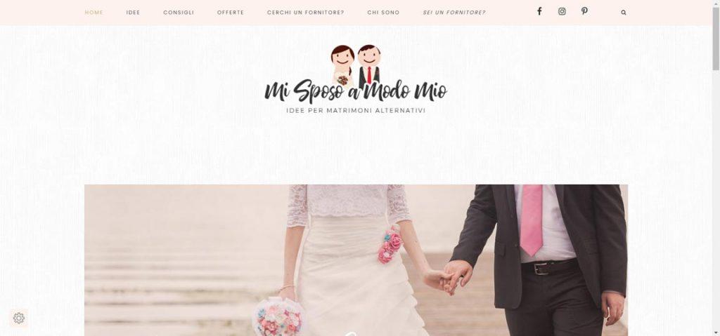 esempio blog matrimonio